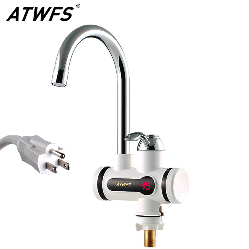 ATWFS 110V 2500W Instantaneous Water Heater Faucet Water Heaters Hot and Cold for Kitchen Instant Tankless