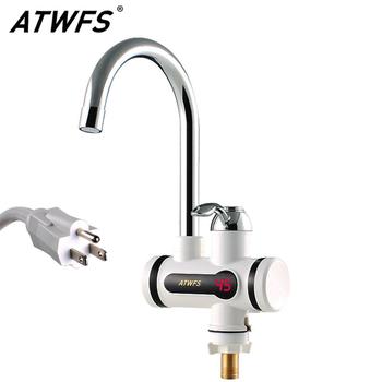 ATWFS 110V 2500W przepływowy podgrzewacz wody kran podgrzewacze wody gorące i zimne do kuchni natychmiastowe bezzbiornikowe ogrzewanie elektryczne z kranu tanie i dobre opinie Natychmiastowa tankless CN (pochodzenie) Other 110 v ROHS Vertical Przewód Sterowania Wolnostojące Klasa Jeden water heater tap