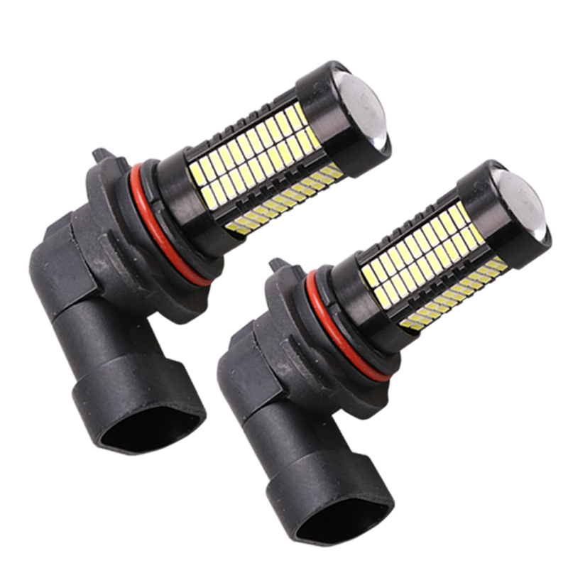 2Pcs H8 H11 Led HB4 9006 HB3 9005 Fog Lights Bulb 1200LM 6000K White Car Driving Daytime Running Lamp Auto Leds Light 12V 2pcs universal car daytime running light led cob 12v drl auto driving front fog lamp white bulb waterproof 6000k