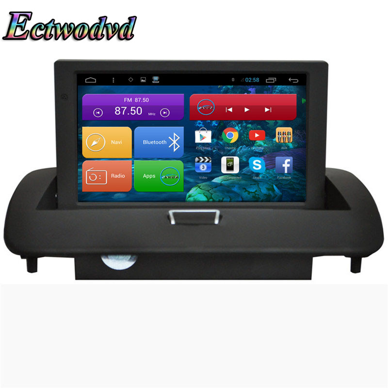 Ectwodvd 8 pouces Octa base Android 7.1/Quad Core Android 6.0 Voiture DVD GPS pour Volvo C40/S40 /S60/C30/C70/V50 2008-2012
