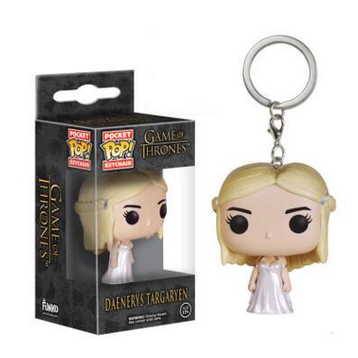 Game of Thrones Funko Figures Daenerys Targa Jon Snow Chaveiro Keychain