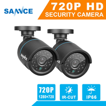 SANNCE 2PCS TVI 720P 1MP CCTV Security Camera indoor outdoor weatherproof IR night vision Home Surveillance Security System