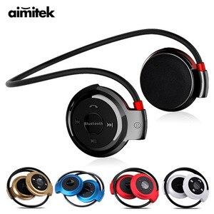 Image 1 - Aimitek Sport sans fil Bluetooth casque stéréo écouteurs Mp3 lecteur de musique casque écouteur Micro SD fente pour carte mains libres Micro
