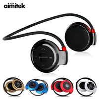 Aimitek Sport sans fil Bluetooth casque stéréo écouteurs Mp3 lecteur de musique casque écouteur Micro SD carte Slot mains libres Micro