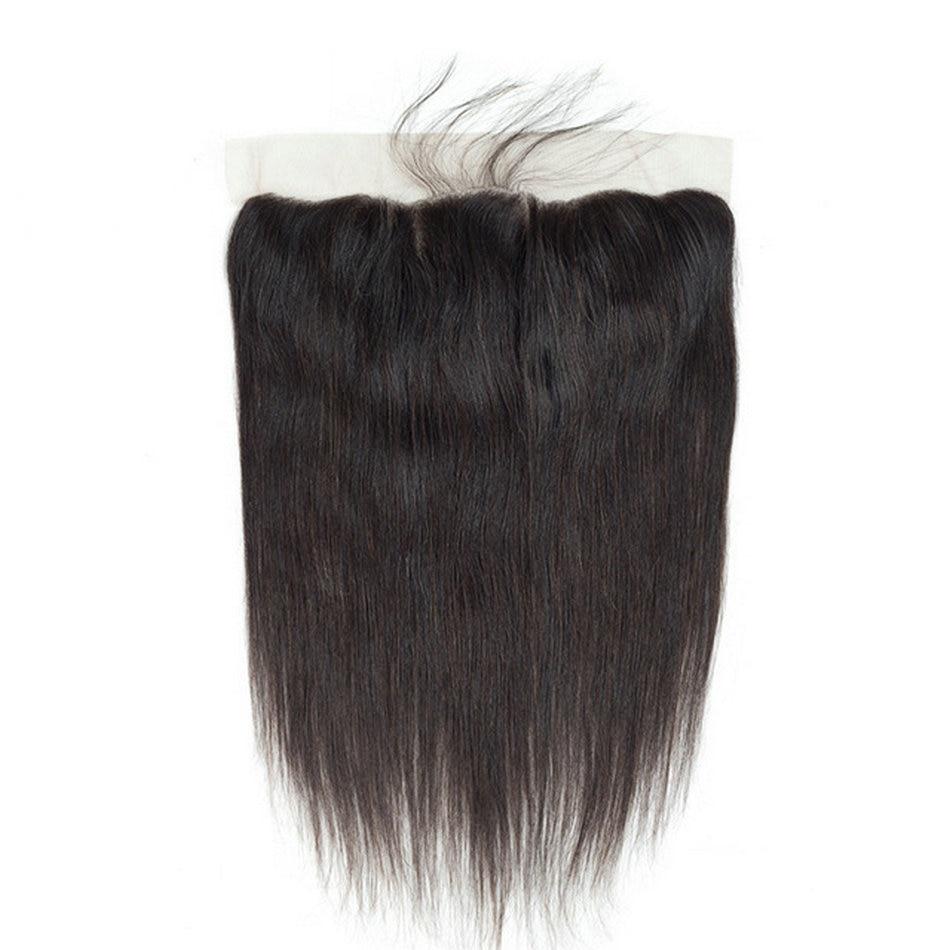 YAVIDA Brazilian Straight Hair Weaving 13*4 Lace Frontal Closure With Baby Hair 100% Human Hair Non- Remy Lace Closure