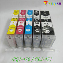 PGI-470 CLI-471 PGI470 Ink Cartridge For Canon PGI 470 CLI471 Pixma MG5740 MG6840 MG7740 TS5040 TS6040 Printer