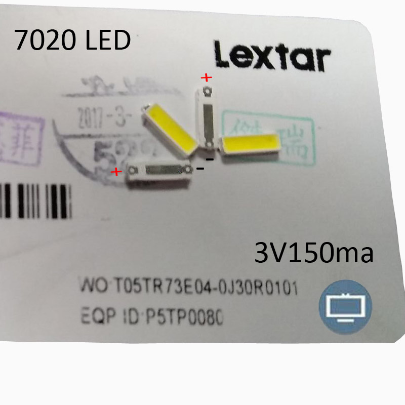 Back To Search Resultselectronic Components & Supplies Active Components 1000pcs Lextar Led Backlight Mid Power Led 0.5w 7020 3v Cool White 40lm Lcd Backlight For Tv Tv Application
