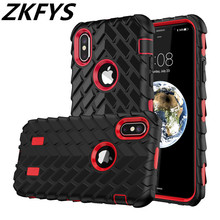 цена на Tyre Tire Tread Robot Hybrid Shockproof Armor Case For iPhone X 5 5S SE Rubber Silicone Back Cover For iPhone 6 6S 7 8 Plus Case