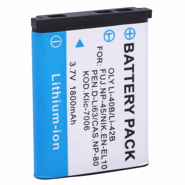HIBTY 1PCS High quality 1800mah LI-42B Li-40B LI42B Li 42B 40B Camera Battery for OLYMPUS U700 U710 FE230 FE340 FE290 FE360