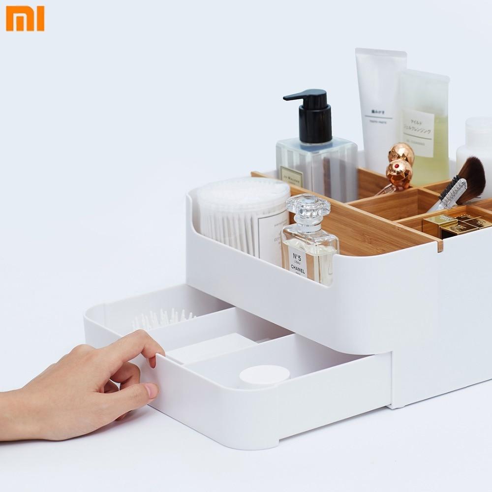 Xiaomi Multipurpose Drawer Storage Box Mijia Cosmetic Box ABS Material Desk Surface Debris Classification Case цена 2017