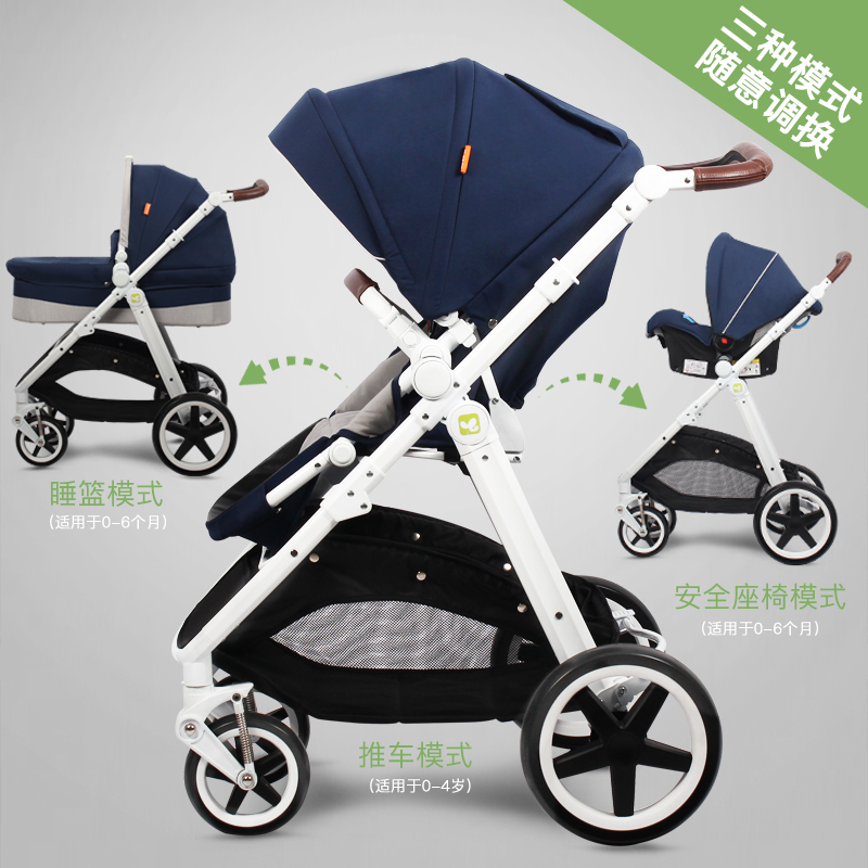 Coolbaby High Landscape Baby Stroller European Style Bidirectional Shock Proof Portable Baby stroller in Four Wheels Stroller from Mother Kids