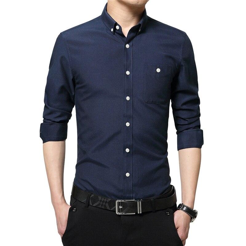 Plus Size 5XL 2019 Autumn Casual Men Designer Shirts Man Shirt Long Sleeve Brand Turn Down Collar Slim Fit Shirt Men