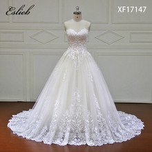 Eslieb 2018 Új lista Princess esküvői ruhák Törökország Csipke Appliques belül Elegáns menyasszonyi ruhák Plus Size Vestido de Noiva