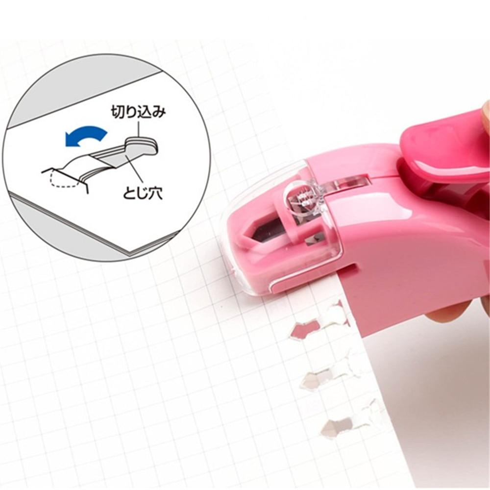 цена на KOKUYO Creative No Needle Mine Manual plastic Stapler Office School Stationery