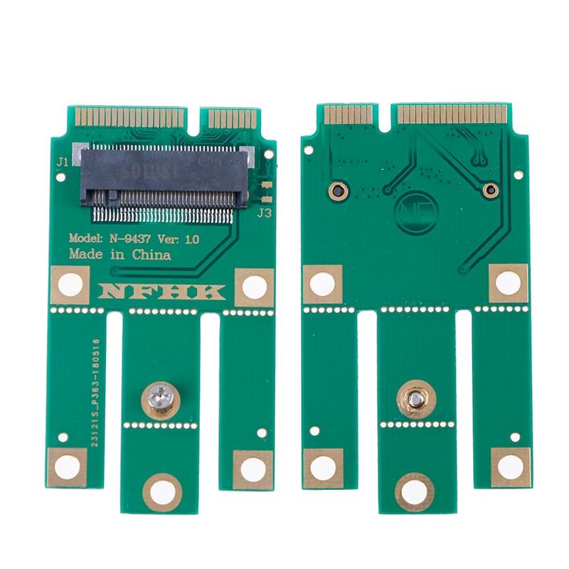 A+E Key A Key M.2 NGFF Wireless Module To MINI PCIE Adapter For Wifi Bluetooth Wireless Card