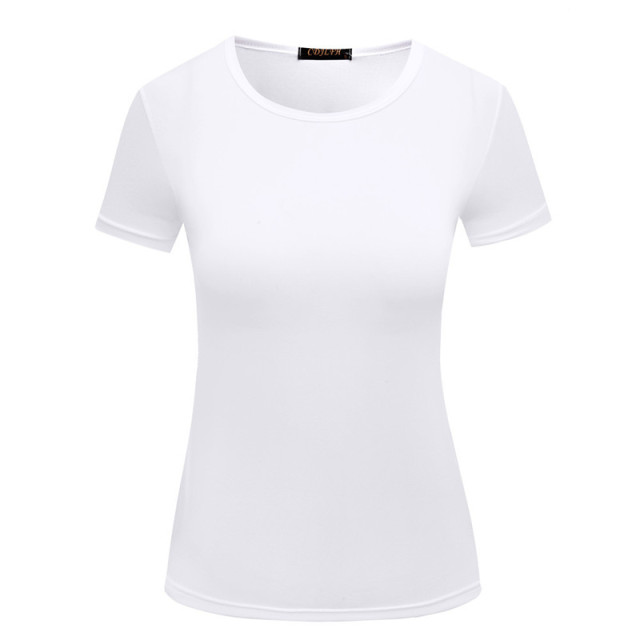 GOOD Quality 5 Color S 2XL Plain T Shirt Women Elastic Basic T ...