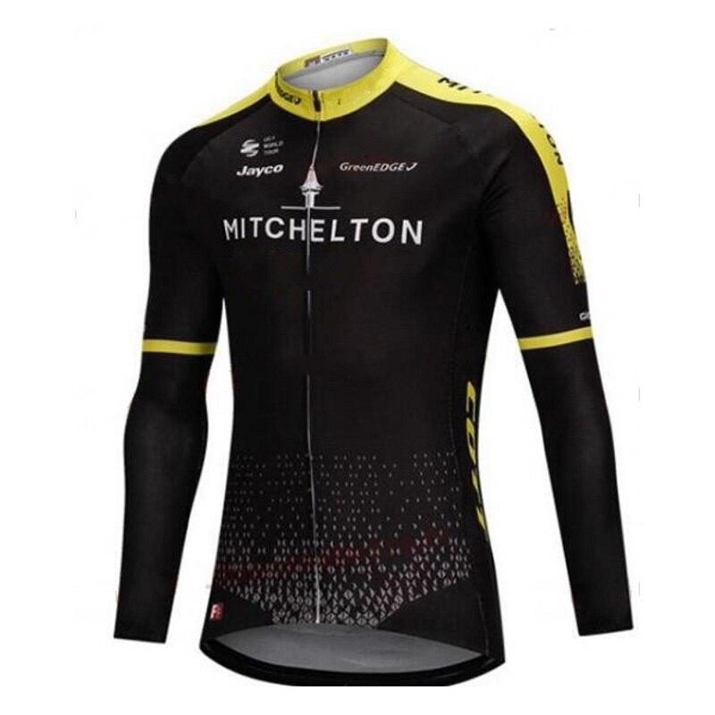 цена winter fleece 2018 pro tour team mitchelton cycling jersey warmer bike cloth jacket MTB Ropa Ciclismo Bicycle maillot ony онлайн в 2017 году