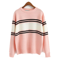 Patchwork Kawaii Winter Preppy Style Lotita Autumn Harajuku Knitwear Women Sweaters And Pullovers Ladies Loose Outwear
