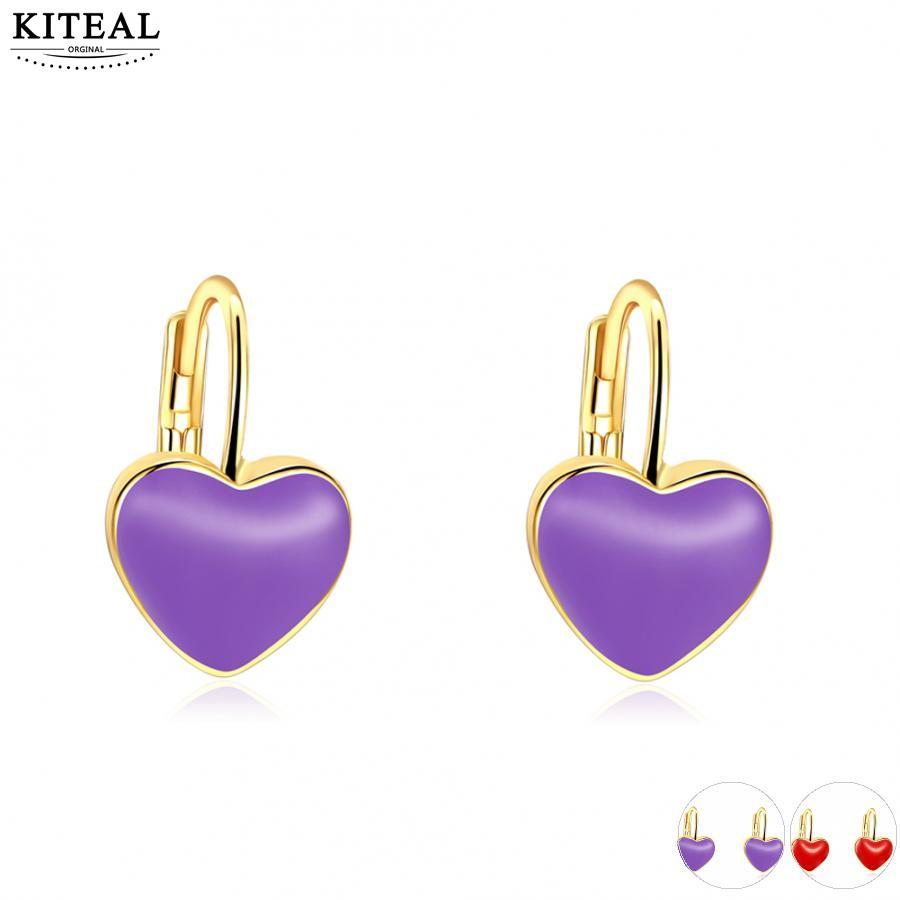 Cute Earrings Jewelry Gold Color Lavenda