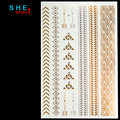 Hot golden tattoo body art metal temporary tattoo jewelry bracelet flash tattoo gold tattoo henna tatoo  Wholesale