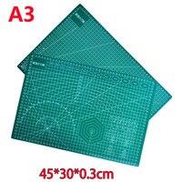 Коврик для резки A3 ПВХ Прямоугольник бумагорез Настольный коврик для защиты корабля темно-зеленый 45 см * 30 см * 0,3 см