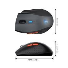 TeckNet Pro 2.4G Wireless Mouse Nano Receiver 6 Buttons 4800 DPI 6 Adjustment Levels For Computer PC Laptop Desktop