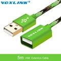 VOXLINL 5 м Расширение USB Кабель Мужчины к Женскому Данных Синхронизации USB 2.0 Удлинитель Кабеля Разъем Адаптера для ПК ноутбук