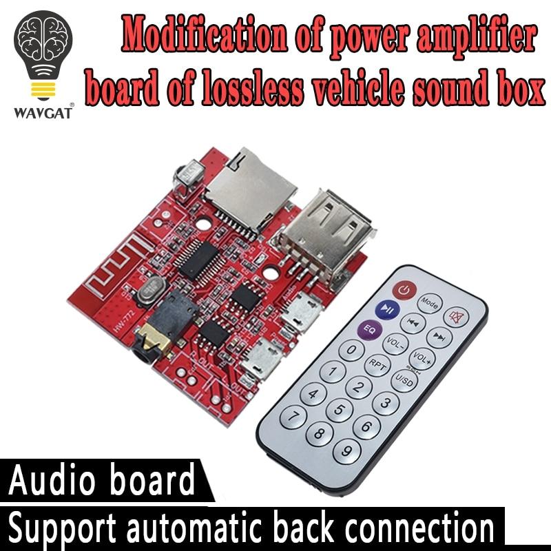 3W Car Bluetooth 4.1 MP3 WAV Decoding Board Speaker Amplifier Audio Receiver Module Support USB/TF/U-DISK/IR Remote Control