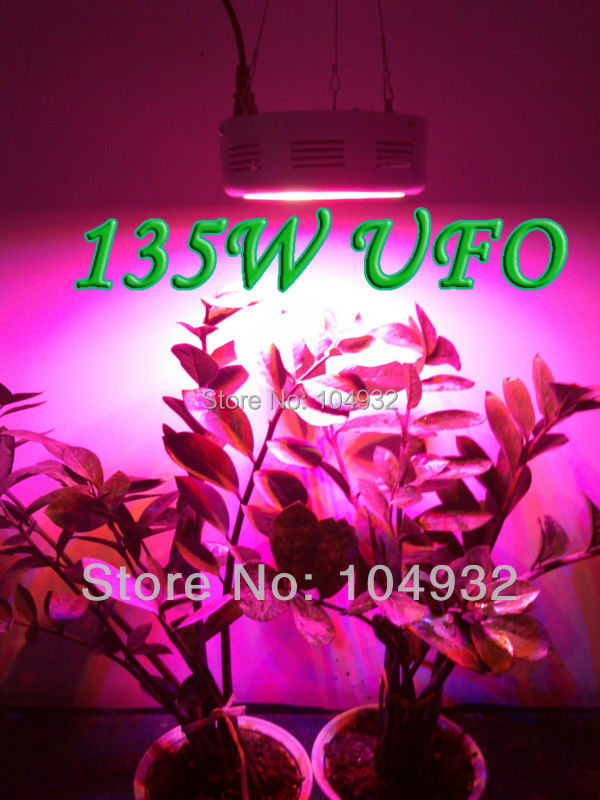 QUAD-BAND 135W LED Grow Light Hydroponic Plant Grow Light Indoor Hydroponic System Plant UFO 45*3W led light