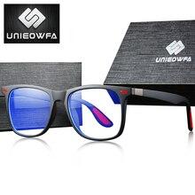 UNIEOWFA Retro przezroczyste oprawy do okularów mężczyźni kobiety optyczne ramki okularów krótkowzroczność przezroczyste okulary TR90 okulary korekcyjne