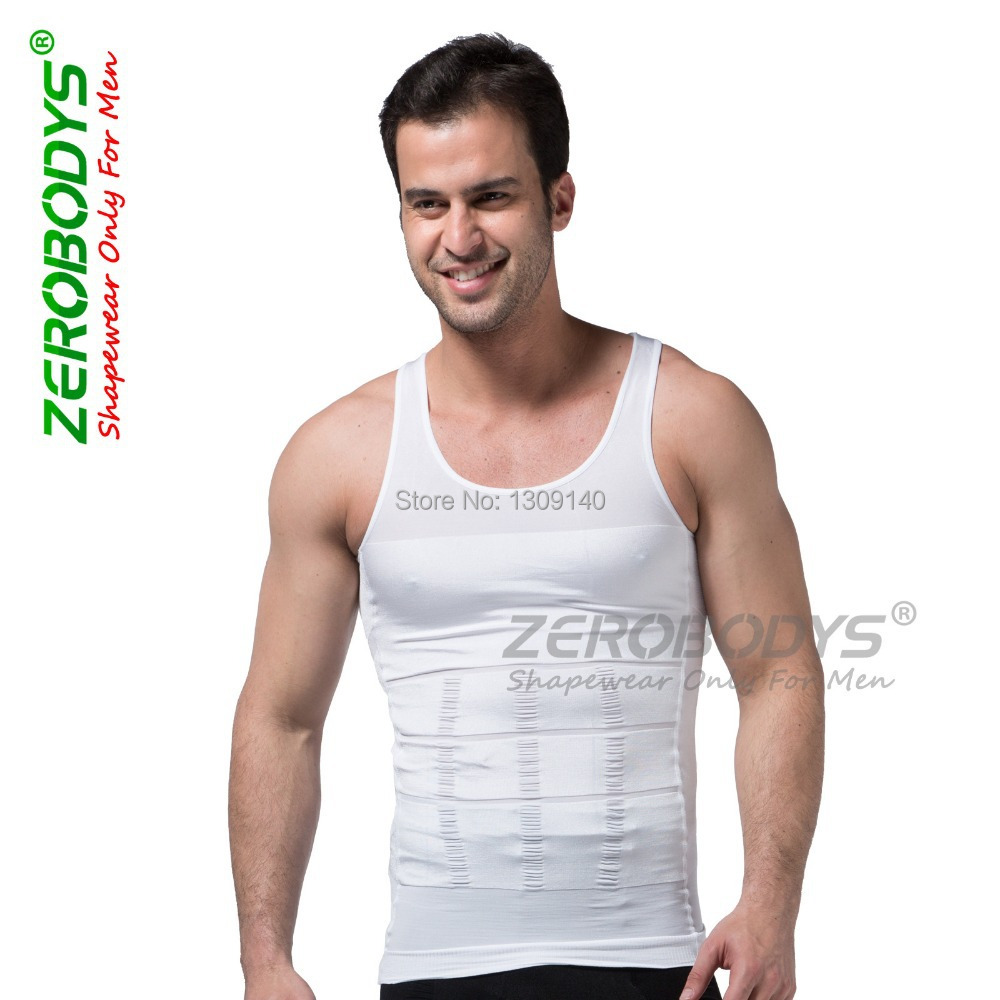 Zerobodys Mens Powerful Slimming Abdomen Vest Body Shaper Girdle Beer Belly Buster Shapewear Underwear Corset for Men B107