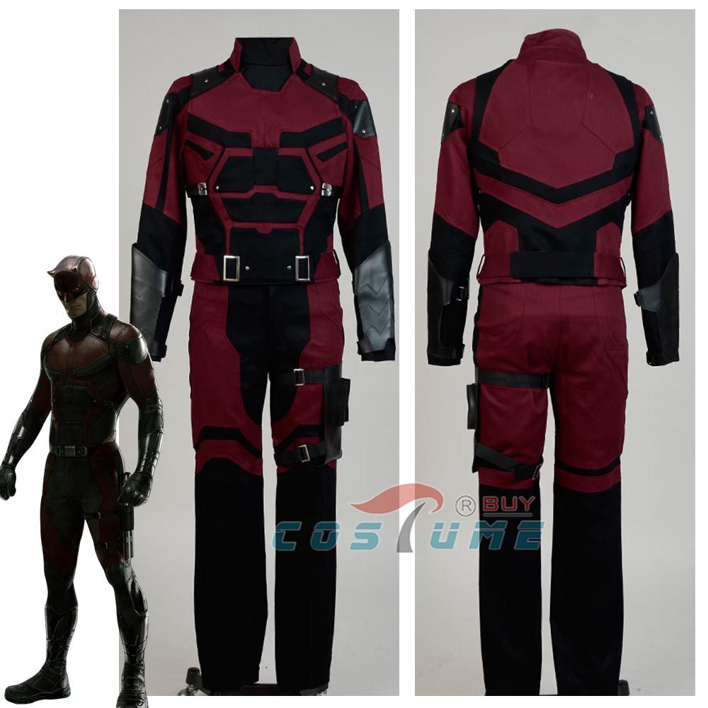 Cosplay Daredevil Costume Adult Superhero Cosplay Costume Custom Made For Adult Men Halloween New Year Chritmas Costumes image