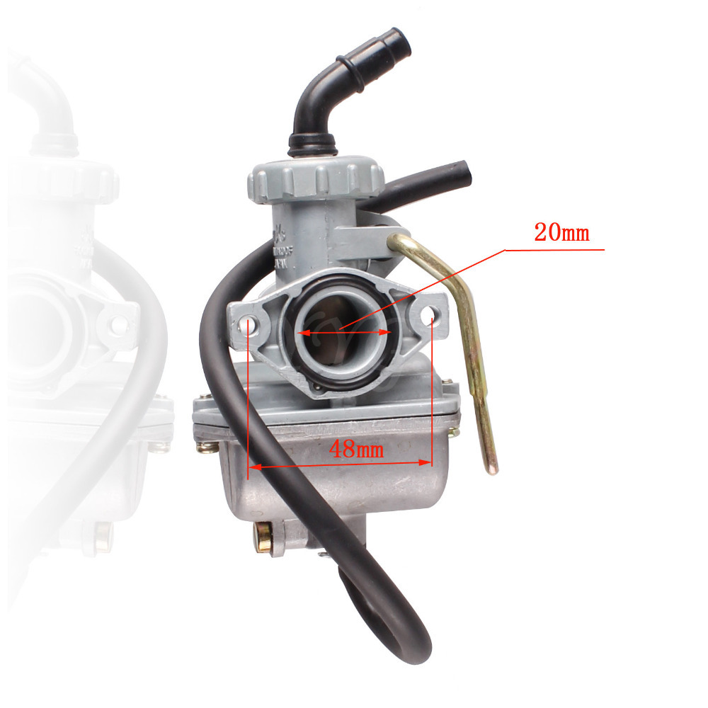 20mm PZ20 Carburetor For 50 70 90 110 125 135cc 4 Stroke Engine ATV Go Kart TaoTao Sunl Quad Peace