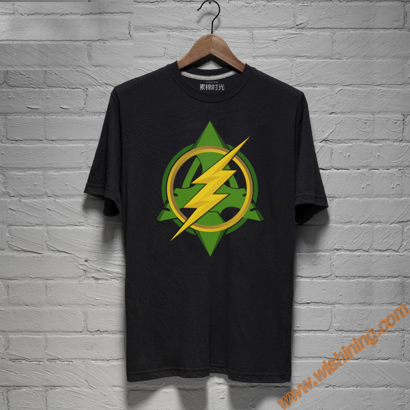2017 Cool Design Green Arrow and The Flash Logo T-shirts For Mens