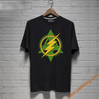 2017 Cool Design Green Arrow and The Flash Logo T shirts For Mens