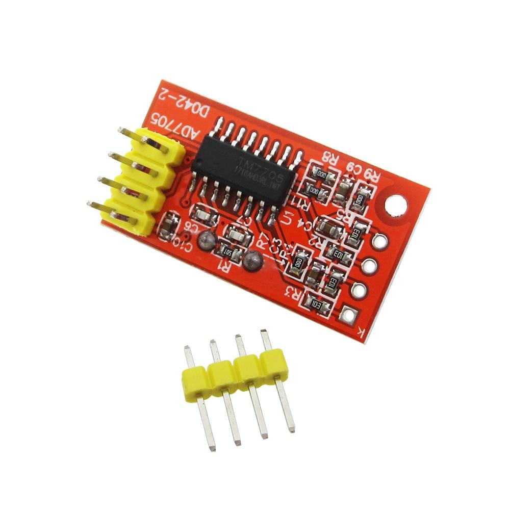 5PCS AD7705 dual channel 16 bit ADC data acquisition module input gain programmable SPI interface TM7705