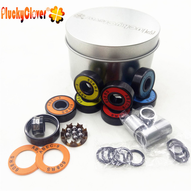 8pcs Colorful Fid Spinner Ball Bearings 608 With 4 pcs Spacers