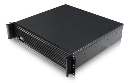 High grade aluminum panel 2U server case 2U case ultra short 2U industrial cabinet double CPU board server 2u industrial control cabinet whole black belt lock case