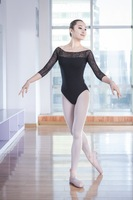 Adult Ballet Clothes Black Elastic Ballet Dance Practice Costume Ballet Dancing Leotards Women Gymnastics Leotard