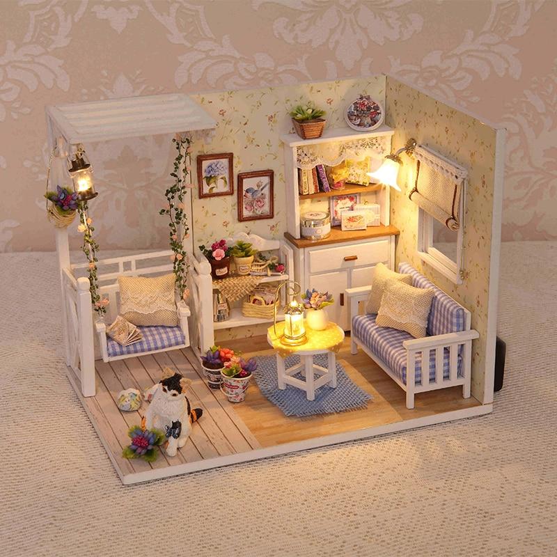 2017 Handmade Doll House Furniture Miniatura Diy Doll ...