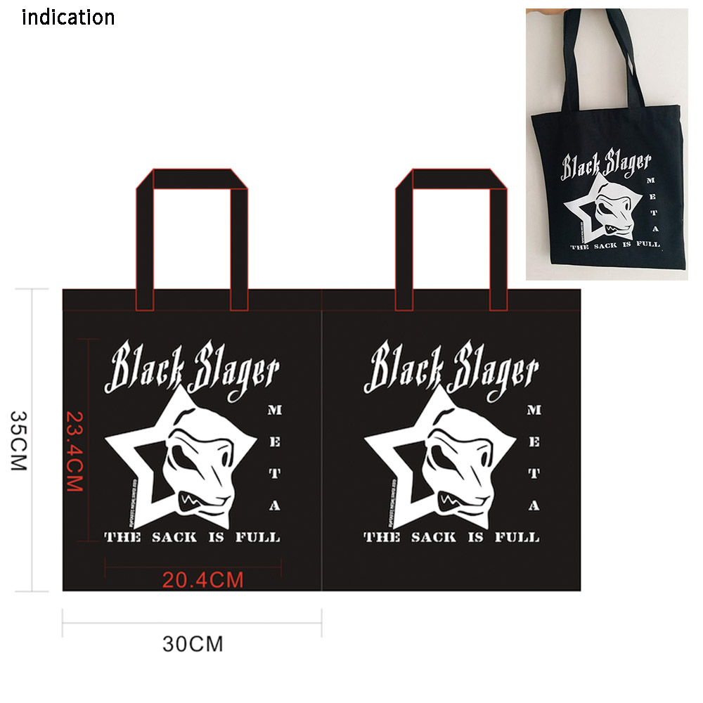 100Pcs Black 30Cm*35Cm Canvas Cotton Tote Bag Customized Logo Eco Company Advertising University Activity