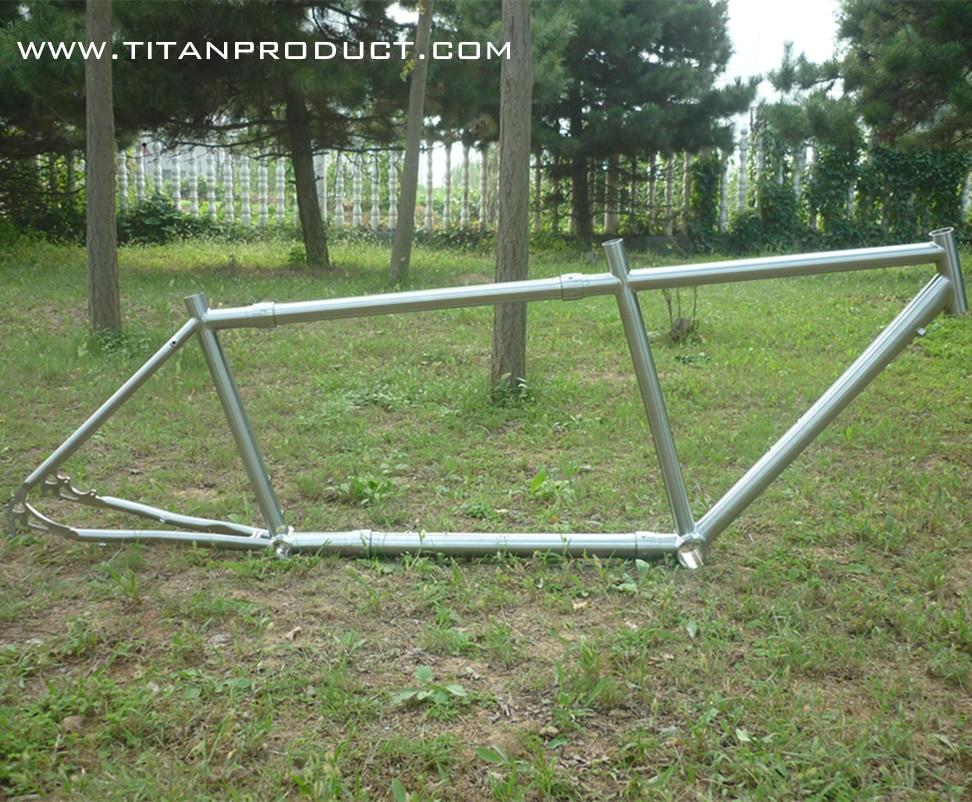 Gr.9 (3al/2.5v) Titanium Road Tandem Frame with S&S Couplers
