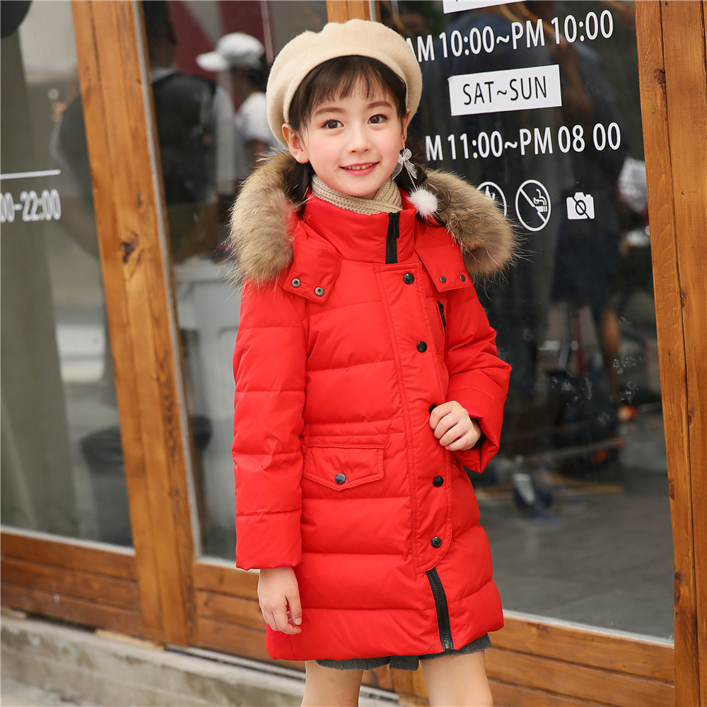 Mioigee 2018 Children's Down Jacket Girls Long Parkas Baby Girls Boys Warm Thickened Winter Outdoor Hooded Coat Outerwear 3-12Y 2015 new hot winter cold warm woman down jacket coat parkas outerwear hooded loose luxury long plus size 2xxl splice cloak