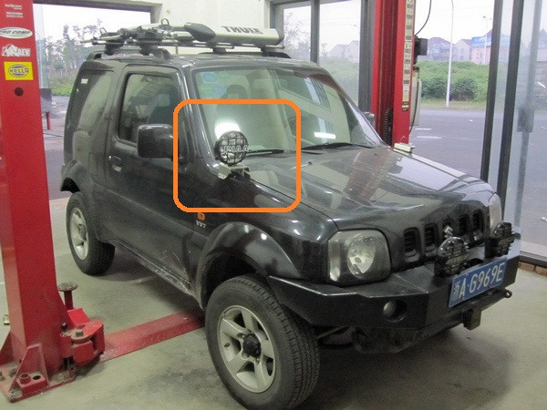 власть черным покрытием стали обслуживание OEM/завод Pot установлен 2 шт. спрятанный/Сид БПК/титан фары бар для Сузуки джимни 4WD внедорожных диск