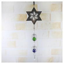 3D металлический подвесной Спиннер, ветряной колокольчик со спиральным хвостовым шаром, домашний декор, LBShipping