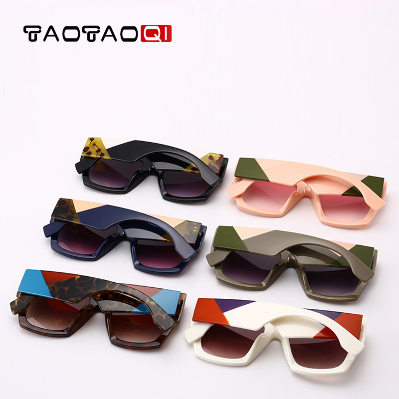 TAOTAOQI Brand Cat Eye Sunglasses Women Fashion Square Designer Frame Sunglasses Men Vintage Female Eyewear UV400 oculos de sol in Women 39 s Sunglasses from Apparel Accessories