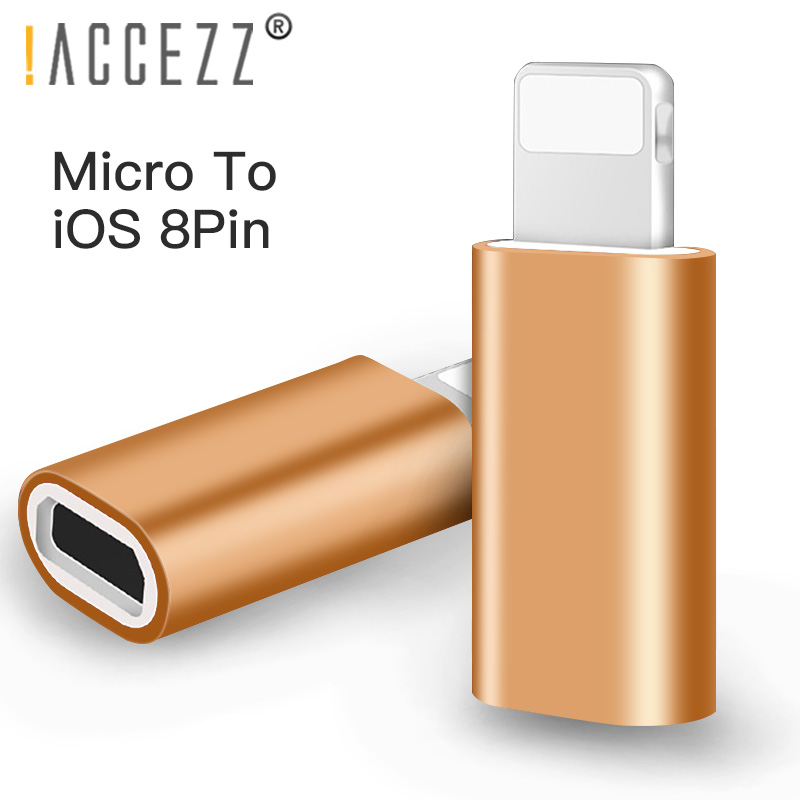!ACCEZZ Micro USB To Lighting For Apple Adapters For IPhone X XS XR 6 7 5 Plus Portable OTG Charger Sync Mini Converter For Ipad