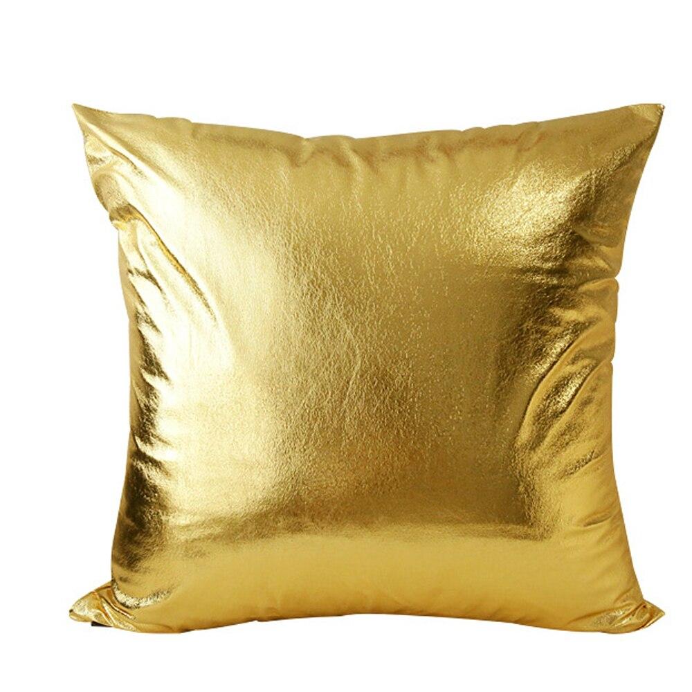 Cheap throw pillows for couch - Modern Fashion Soft Pu Gold Shining Bling Decorative Golden Sofa Bed Decor Throw Pillow Case Cushion