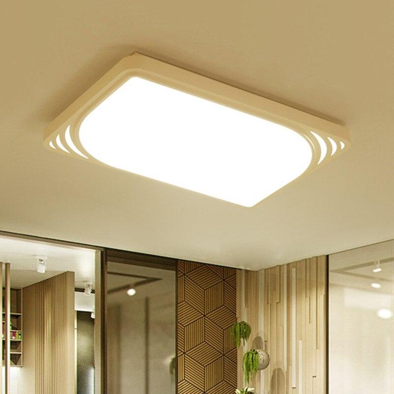Простые современные Потолочные светильники Гостиная Прямоугольный атмосфера спальни дома небольшой квартире северные ветра зал лампы