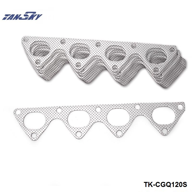 10PCS/LOT Aluminum Graphite Exhaust Manifold Header Gasket For <font><b>Honda</b></font> Integra <font><b>Civic</b></font> Crx B16 <font><b>B16A</b></font> B18 TK-CGQ120S image